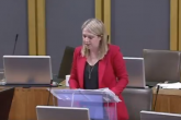 An image of Hannah Blythyn announcing the consultation in the Welsh Assembly