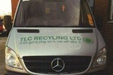 An image of a TLC Recycling Ltd van