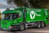 A green Viridor truck