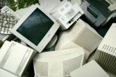 Piles of old computers.