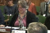 Therese Coffey giving evidence to the EAC.