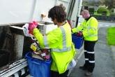 Waste workers in Gwynedd.