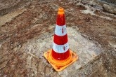An image of a health and safety traffic cone