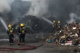 Firefighters stretched by three waste fires