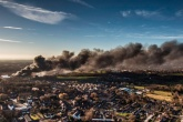 Huge hazardous waste blaze takes over Remondis site