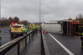 Three hospitalised after Urbaser bin lorry crash