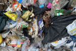 An image of contaminated recycling