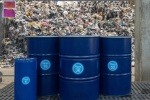 Barrels of Plaxx created from Recycling Technologies' chemical recycling process.