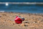 Can on beach