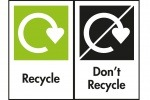 "OPRL's ""Recycle"" and ""Don't Recycle"" packaging labels."