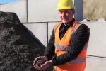 Robert Green holding aggregate