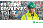 A screenshot from Viridor's 2019 Sustainability Report