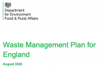 Front cover of Defra Waste Management Plan consultation document