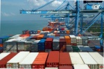 Shipping containers at Malaysia's Port Klang