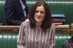A screengrab of Theresa Villiers in Parliament