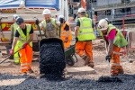 An image of the roads being laid