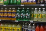 Rows of large plastic bottles
