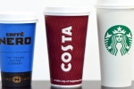 High street take-away coffee cups