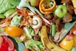 Food waste close up