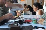 A repair cafe run by CAG Oxfordshire group Makespace
