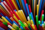 An image of single-use plastic straws