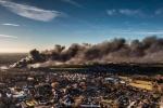 Huge hazardous waste blaze takes over Remondis site