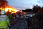 Fire services tend to two waste fires ignited during Bonfire weekend
