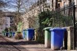 Wheelie bins on street