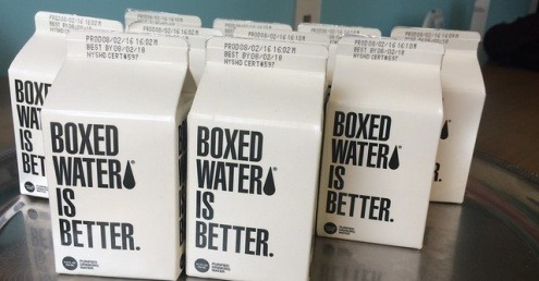 Cartons of water