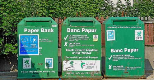 Welsh recycling bins