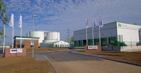 First food waste collections received at ReFood's state-of-the-art Dagenham AD plant