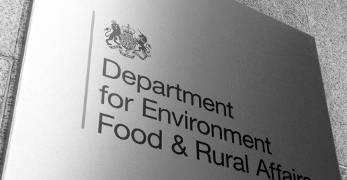 Defra sign outside the departmental building.