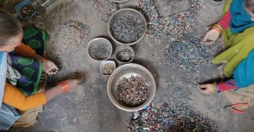 E-waste dismantling in Delhi