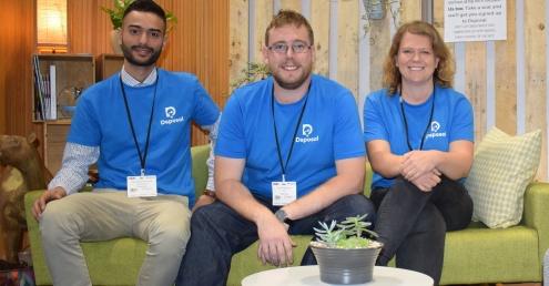 Dsposal's Developer Georgios Rovolis, CEO Tom Passmore and COO Sophie Walker