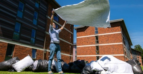 Sussex Uni campus duvet collection