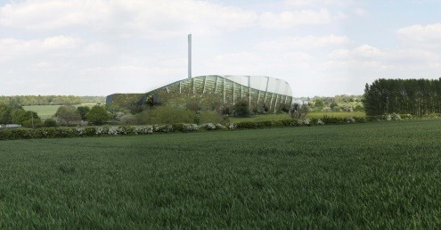 An artist's impression of the proposed Alton EfW facility.