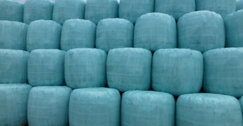 Bales of RDF ready for export