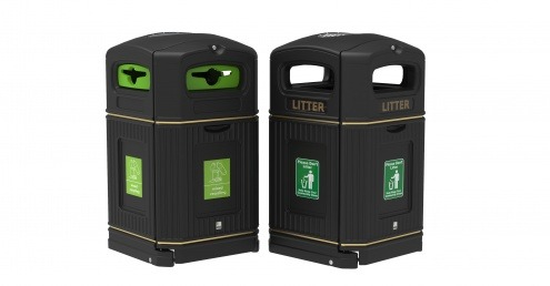 Leafield Environmental's new range of XL litter and recycling bins