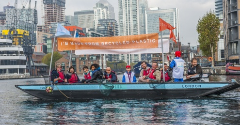 Hubbub launches first recycled boat to fish plastic from London's waterways