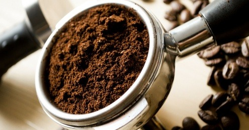 Image of coffee grounds