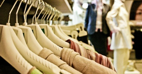 Clothing in a shop
