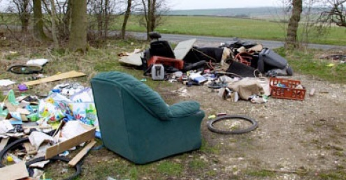 An image of some fly-tipped waste