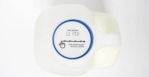 Tactile expiry labels could prevent food waste