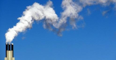 Smoke emitting from a chimney