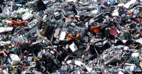 Mountain of electrical waste