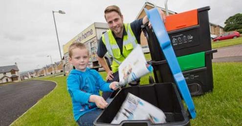 Wheelie Box kerbside sort recycling box