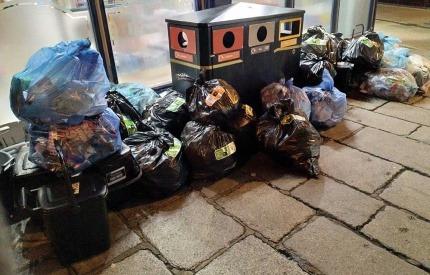 Stickered bin bags in Guernsey