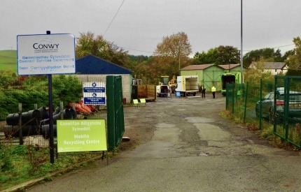 Mobile recycling centre