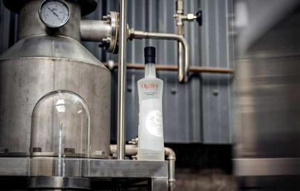 A bottle of Ogilvy vodka
