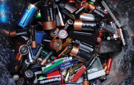 What happens when batteries are recycled?